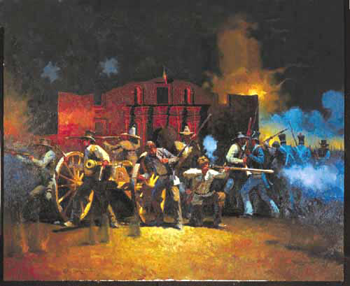 """One of many great pieces of Art with an """"Alamo"""" theme."""