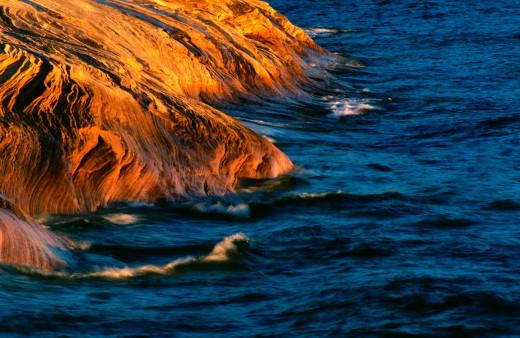 Shoreline of Lake Superior, Pictured Rocks National Lakeshore, Michigan's Upper Peninsula.