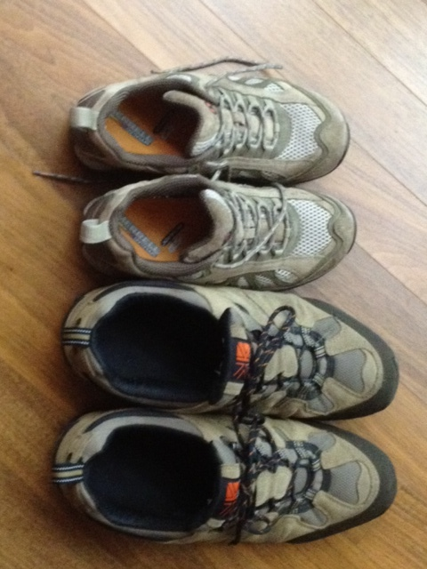Merrell hiking shoes for men and women.
