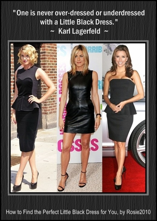 - Diane Kruger, Jennifer Aniston, and Eva Longoria - How to Find the Perfect Little Black Dress for You, by Rosie2010 -
