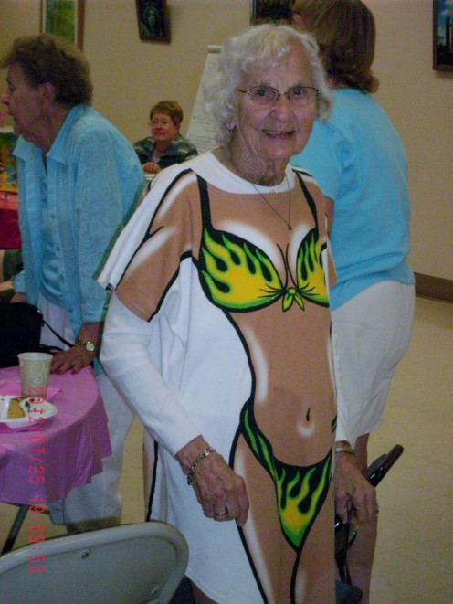95 Years Young with a Tattoo on Her Backside!