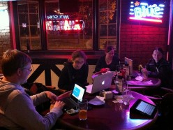 Use the Nanowrimo website to find a cafe and meet up with other Nanowrimo's in November.  Time to get writing!