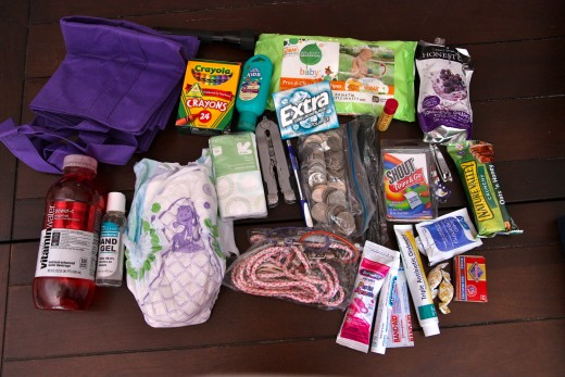 Some of the items in our Just in Case Kit.