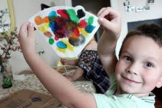 DO CRAFTS WITH YOUR CHILD! (It's a great way to bond and foster creativity.  Besides, you can never have enough refrigerator art)!