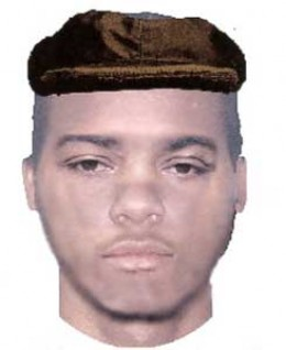 This is a computer generated composite of the serial rapist released by the Montgomery County Police Department.