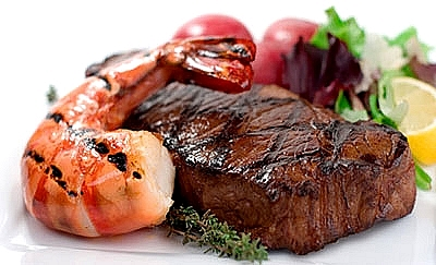 Heme iron, derived from hemoglobin is found on seafoods and lean meats such as steak, liver, chicken