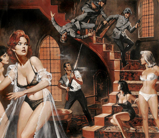 to have a castle-full of gorgeous ladies, and to have one, just grab a machine gun and shoot-your-way in.