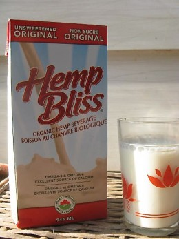 A glass of hemp milk - delicious and healthy