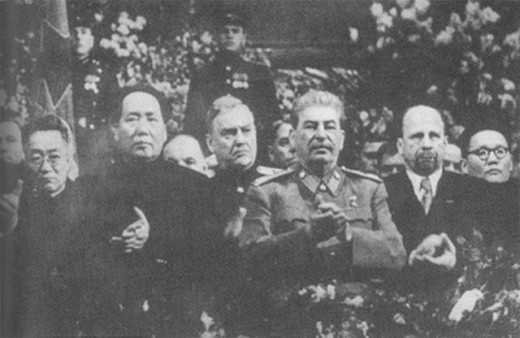 Mao and Stalin in 1949