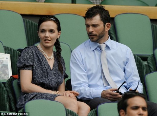 Victoria Pendleton with boyfriend Scott Gardner at Wimbledon in 2012