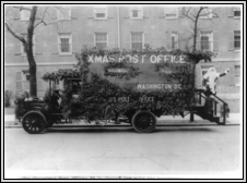US Post Office Truck during 1921 Christmas Season