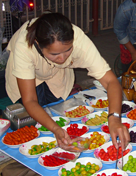 Thai sweets at Wua Lai, Walking Street Market, Chiang Mai, Thailand