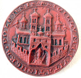 Seal of the city of Wurzburg, Germany 1319
