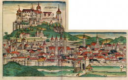 Wood cut of Wurzburg, Germany.