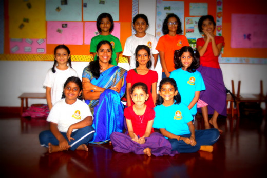 The cute little girls of my class