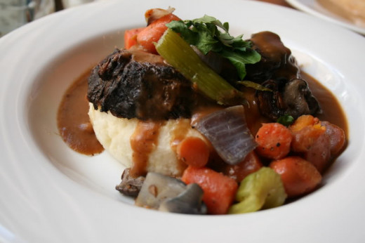 Pot Roast at Liberty Tree Tavern. My wife is a huge pot roast fan, and this is her favorite.