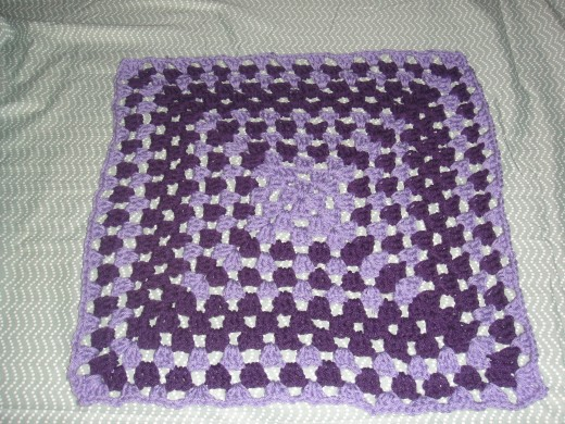 Made this granny square afghan/ baby blankt last week.