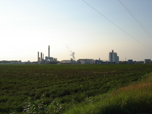 An ethanol plant in South Bend, Indiana