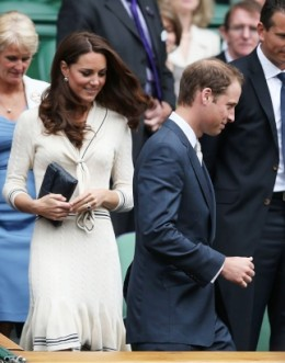 The Duchess with her husband Prince William at Wimbledon