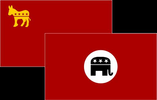 """Democrats (""""Communists"""") vs Republicans (""""Nazis"""")"""