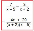 Subtracting Algebraic Fractions. A simple guide on how to take away fractions with algebra.