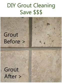 Easy and Inexpensive Way to Clean Grout Yourself