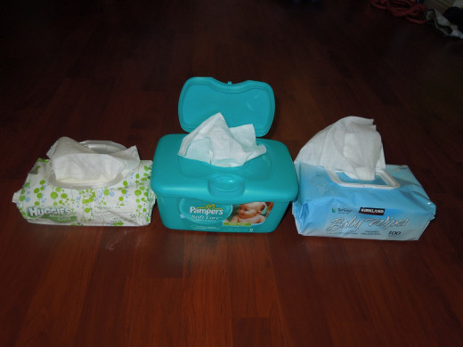 Comparing Baby Wipes: Huggies, Pampers and Kirkland Brands