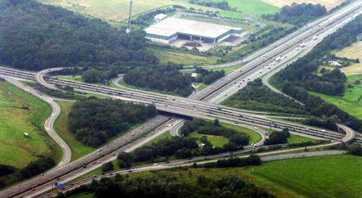 The Autobahn in Europe.