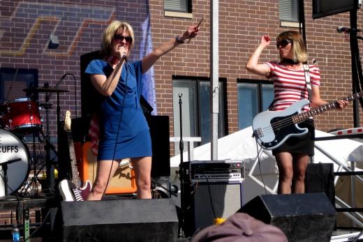 Lead singer Chloe F. Orwell & Emily Togni bassist.