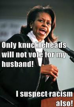 Listen Up Knuckleheads!  Michelle Is Speaking...