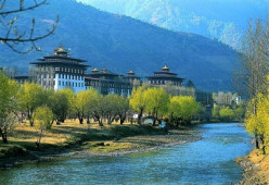 High elevation Thimphu the capital of Bhutan - One of mystical places you can visit in Himalayas