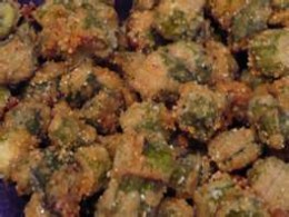 This is the way southern, pan fried okra should look when it's done -- lots of flavor!