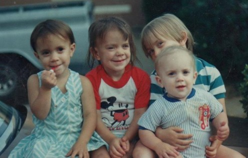 Our Four Little Angels in 1987