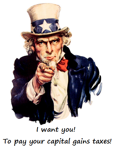 Capital gains taxes affect traders of all sizes and Uncle Sam wants his money.