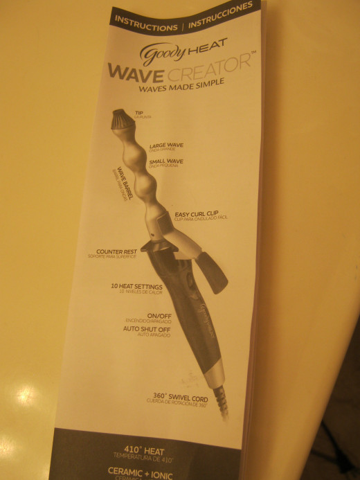 Instructions for the Goody Heat Wave Creator waving iron. Creates beautiful waves! Once you get the hang of it, it is VERY easy to use! One of my favorite styling accessories!