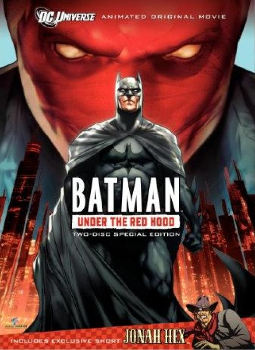 Batman: Under the Red Hood DVD packaging.