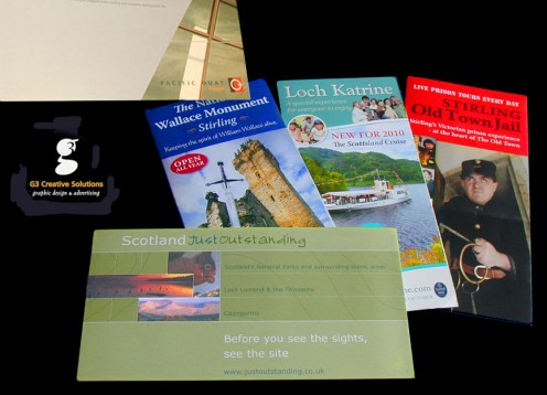 Small selection of visitor centre leaflets.