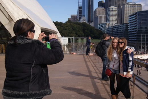 Tourist photos at Sydney Opera House.