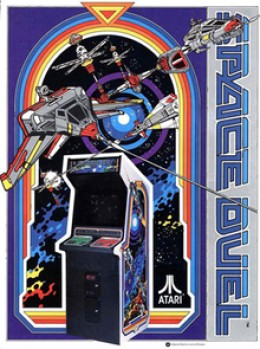 Atari's Flyer For Space Duel in the arcades