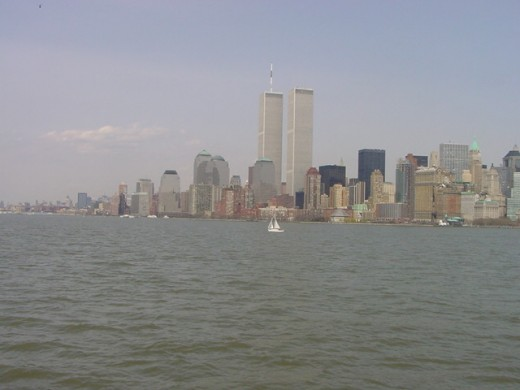 What the skyline of New York used to look like prior to the terrorist attacks on 9/11/2001