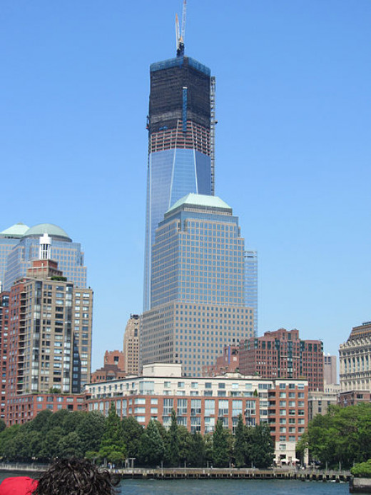 One World Trade Tower being constructed in 2012