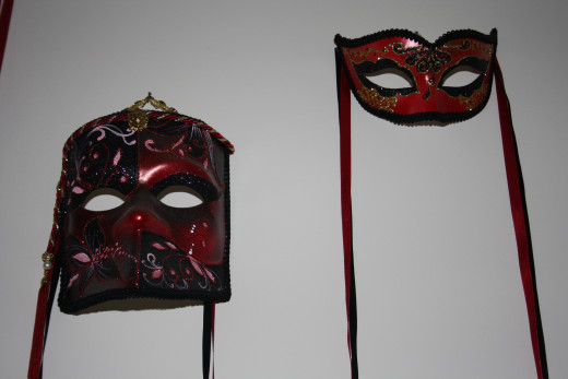 You can even buy his and her matching masks, we have three sets.