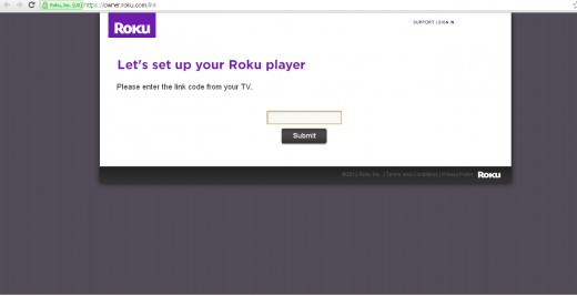 Roku Link Screen