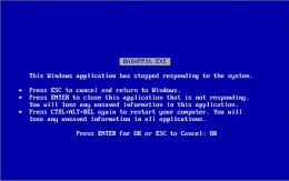 The Blue Screen of Death - it can happen to anyone