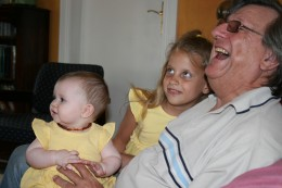 Sophie, Caitlin and Gramps