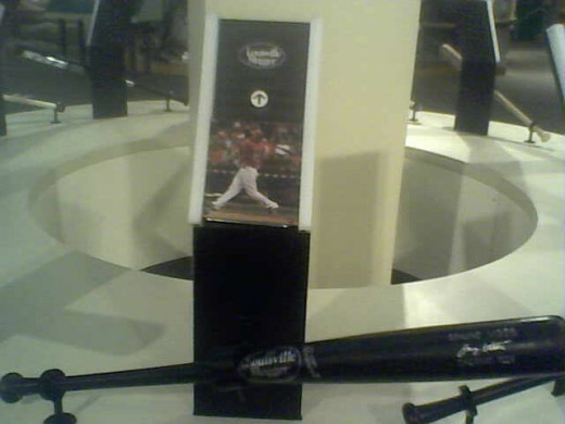 The Black Beauty of Reds MVP Joey Votto is Displayed at the Louisville Slugger Museum