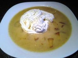 Cold and creamy peach soup recipe