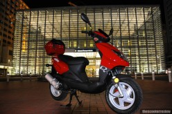 The 68 m.p.g. gas-guzzling Urban R4 scooter, the gas mileage loser among 50cc scooters, according to my fellow Hubber, Hal Lucino.