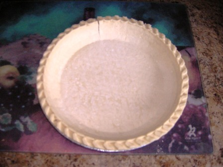 instant pie crust, I put in 350 degree oven for 5 minutes.Bob Ewing photo