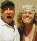 This is Leslie Siegel and Mel Brooks. He took an instant liking to Leslie and put her in the front of all the other hundreds of extras and even made up a whole scene on the spot of her under the stairs with Rudy DeLuca.